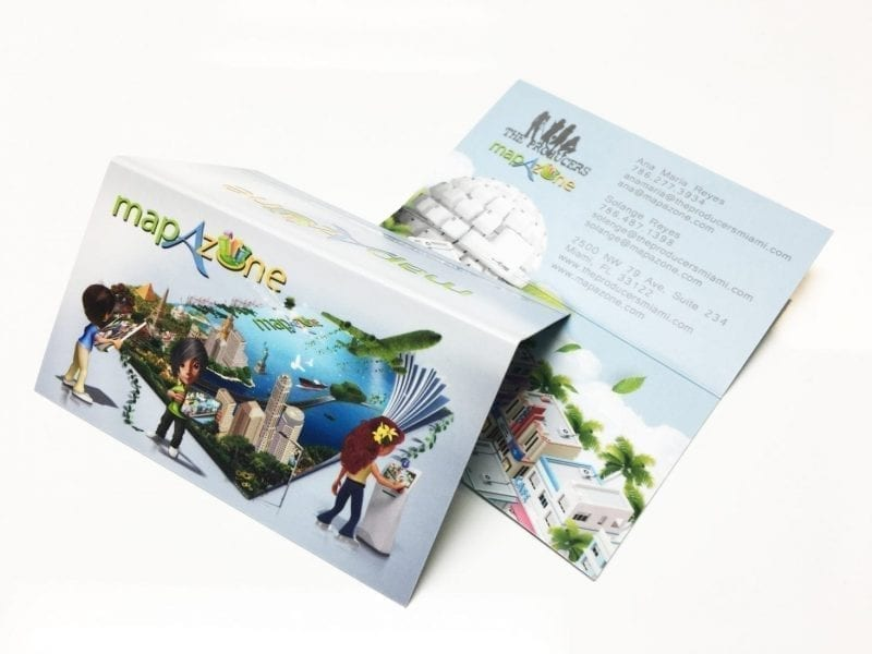 fold over business cards