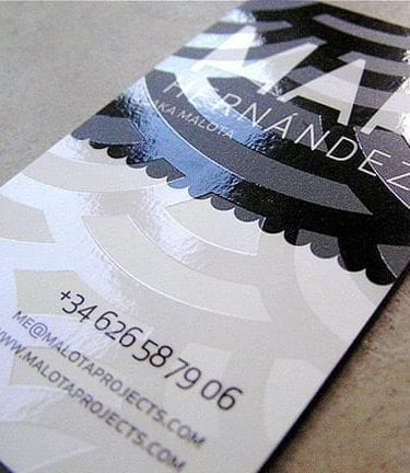 spot uv silk laminated business cards