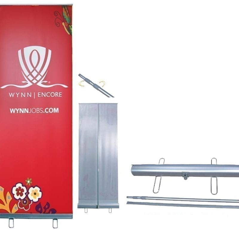 """39"""" adjustable retractable banner stand"""