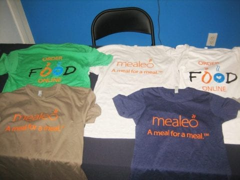 mealeo screen printed t shirts
