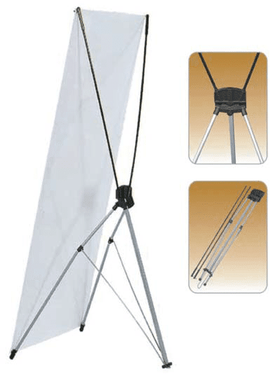 Extra Large Standard X Type Single Sided Fibeglass Banner Stand