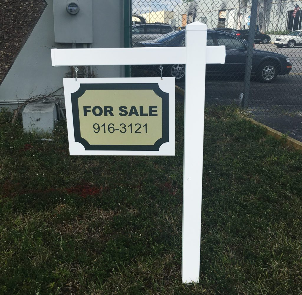 vinyl real estate post signs for sale