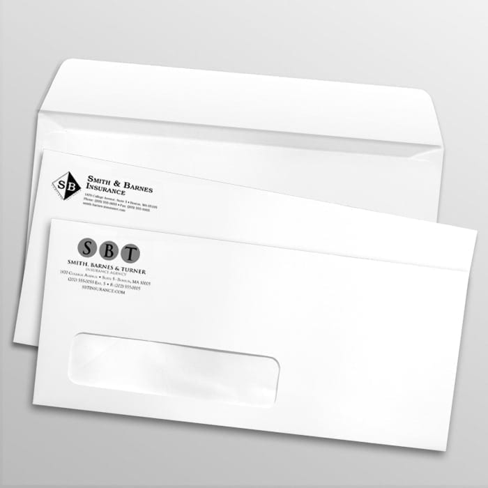 1 color window envelopes