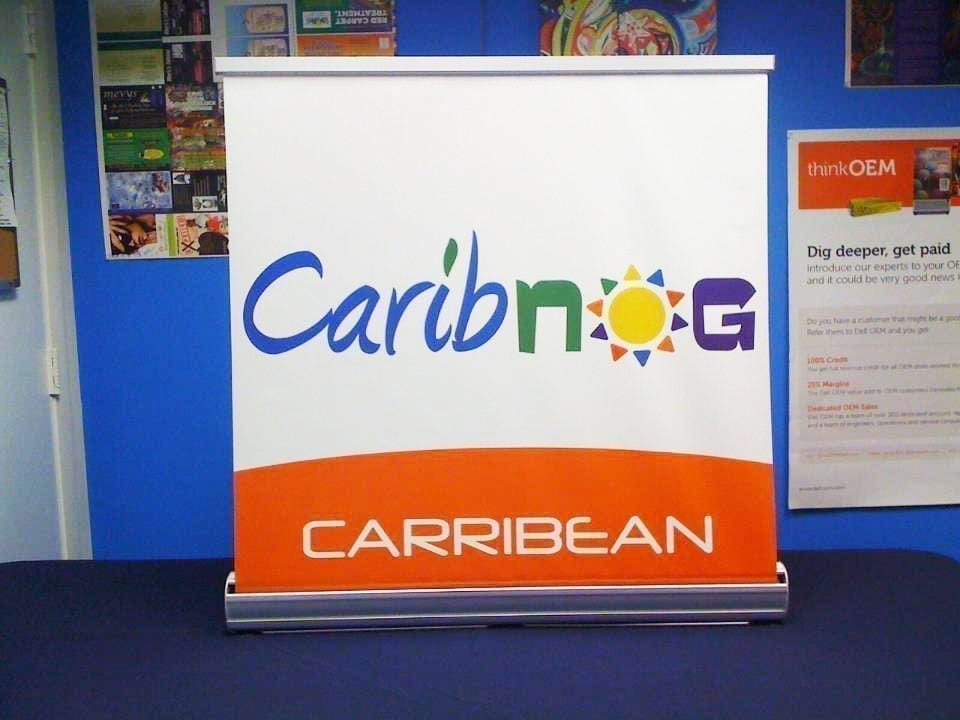 large table top retractable banner stand