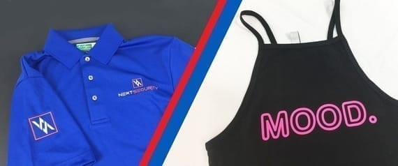 Branded uniforms with embroidery and screen printing identifies employees.