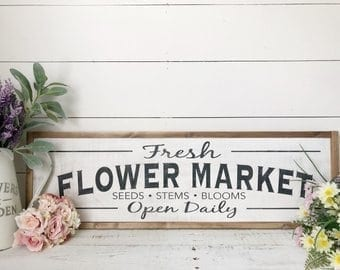signs for flower distributors