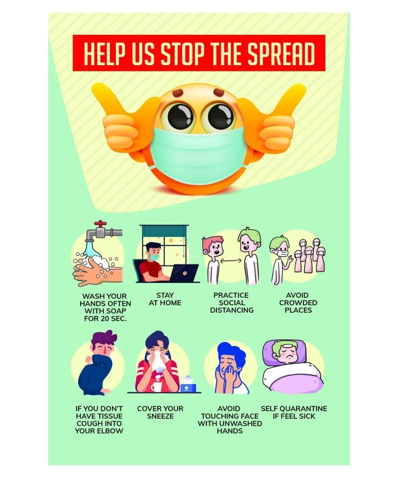 Help Stop The Spread Poster