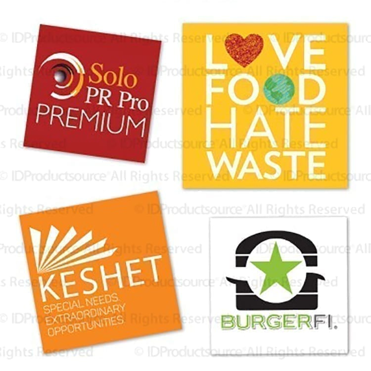 Square Water Resistant Stickers with helpful Covid-19 information can be good product inserts